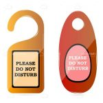 Pair of Do Not Disturb Tag Designs